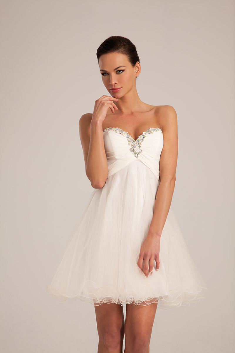 Robe de soiree charleston blanche