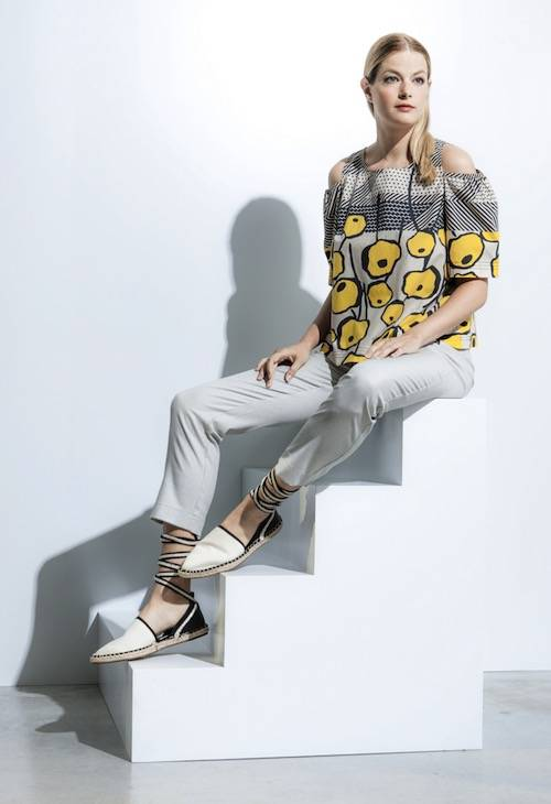 Pantalon blanc femmes collection printemps été 2018